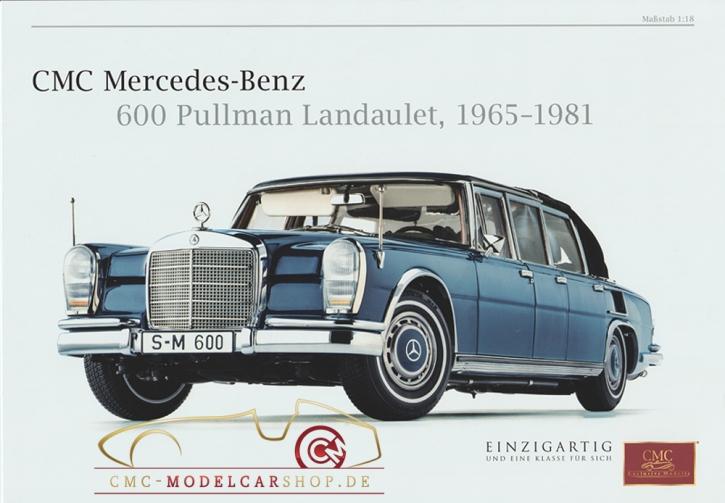CMC model car brochure Mercedes-Benz 600 Pullman Landaulet