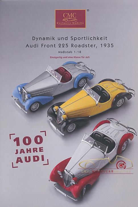 CMC modèles brochure Audi Front 225 Roadster,1935