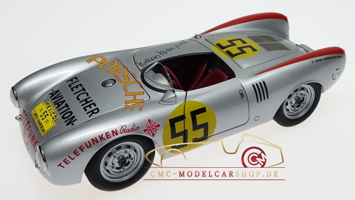 Autoart Porsche 550 RS Spyder, signed by Hans Herrmann, Panamericana 1954, Limited Edition 65 pcs