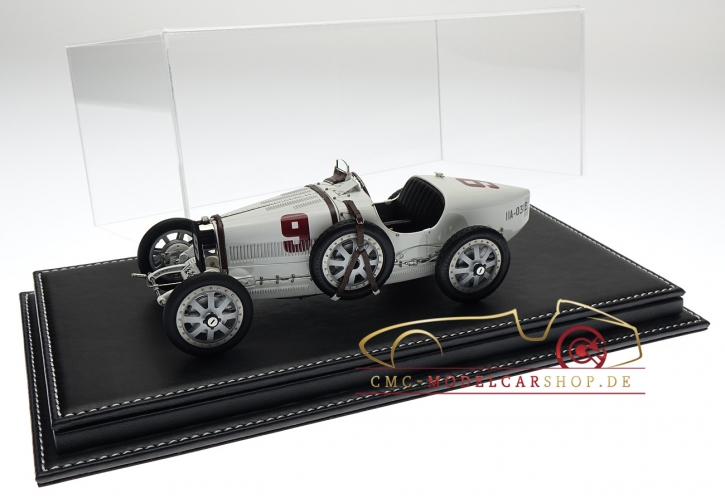 CMC Bugatti T35 #9 GP Deutschland incl. Atlantic Vitrine