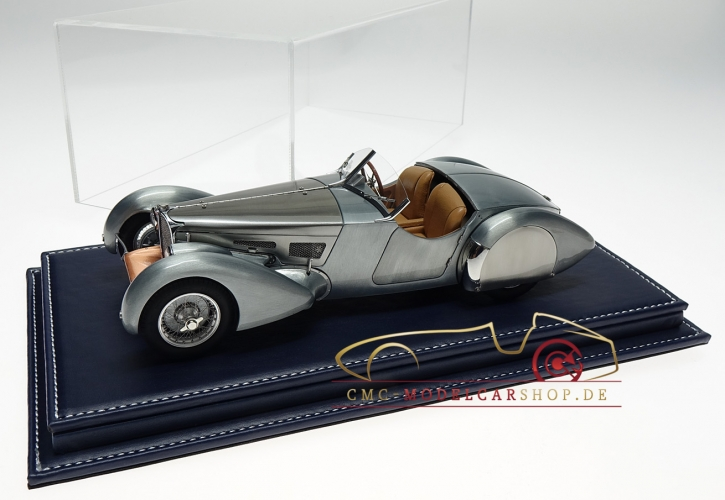 Atlantic vitrine Mulhouse leather dark blue, 1:18 model cars