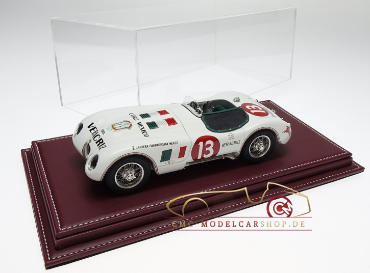 Atlantic vitrine Mulhouse leather burgundy, 1:18 model cars