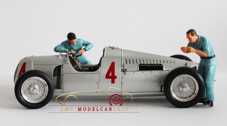Figutec Set 2 mechanics Auto Union Figuren 1:18