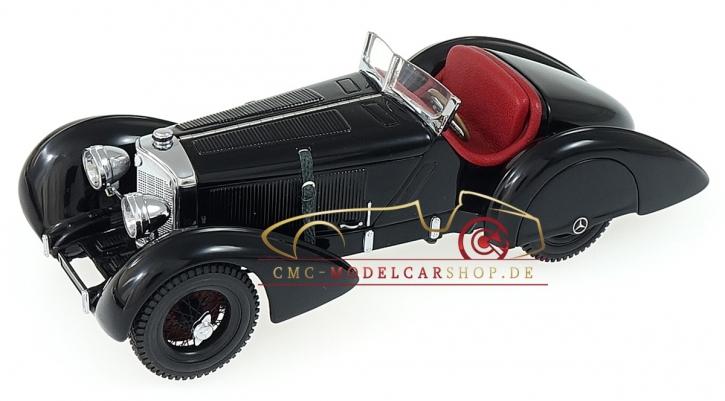 "CMC Mercedes SSK Trossi, 1932 ""Der Schwarze Prinz"", Innen Leder Rot"
