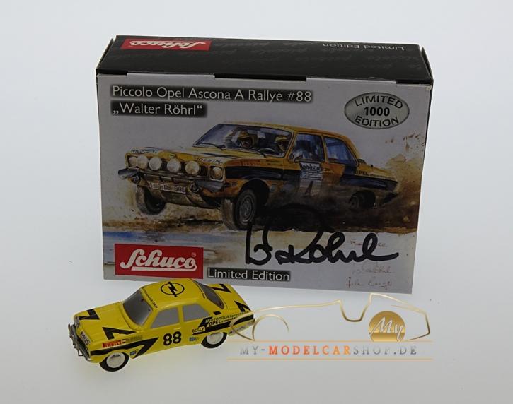Schuco Piccolo Opel Ascona A Rallye sign. Walter Röhrl