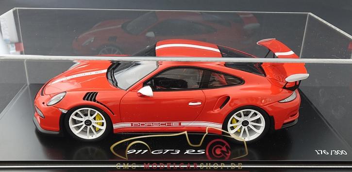 Spark Porsche 911 (991) GT3 RS orange IAA 2015, Limitiert 300