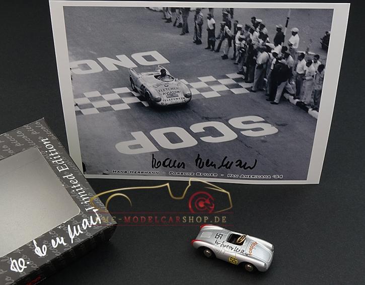 Schuco Piccolo Porsche Spyder signiert Hans Herrmann