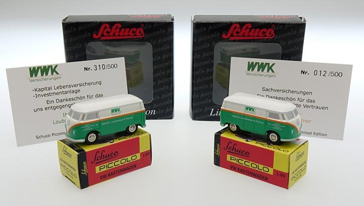 Schuco Piccolo Set VW T1 WWK Agentur Loubaresse & Partner