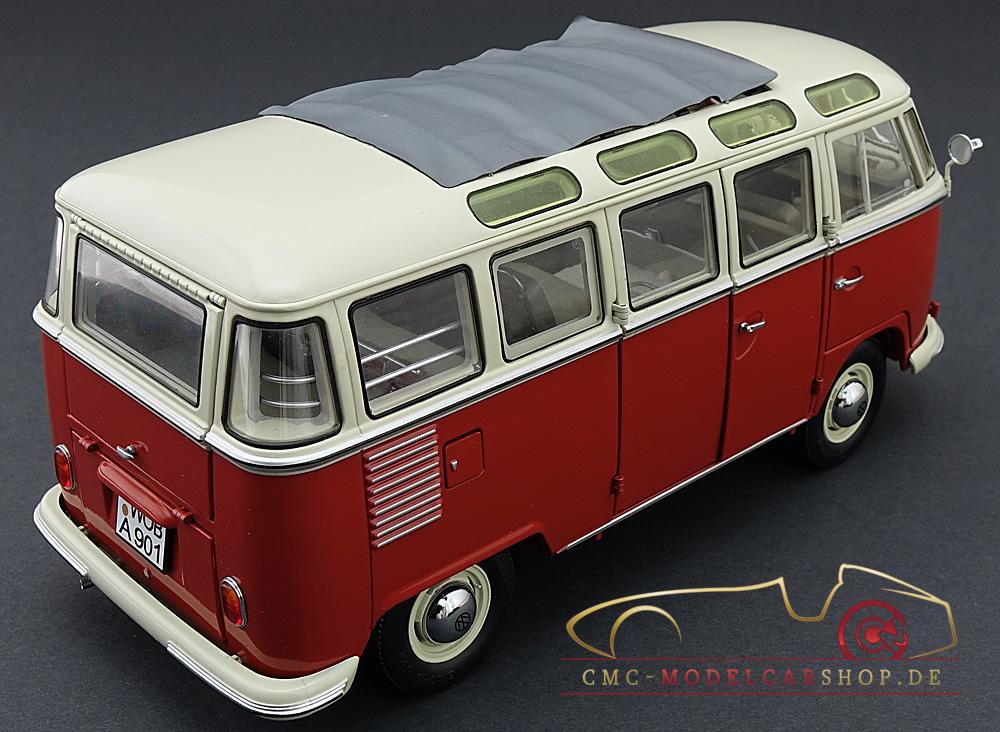 schuco vw t1 samba bus rot weiss 1 18 450028000. Black Bedroom Furniture Sets. Home Design Ideas