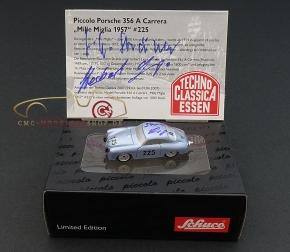 Schuco Piccolo Porsche 356 A signiert Herber Linge und Paul Ernst Strähle