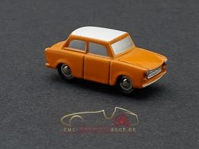 Schuco Piccolo Trabant, orange/weiss Vorserienmodell, 1:87
